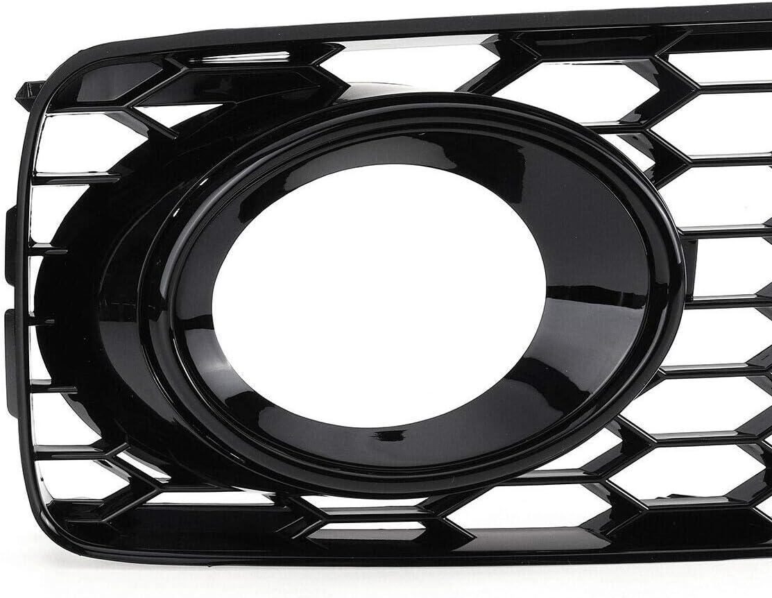 GSRECY Parrilla para parachoques de luz antiniebla izquierda y derecha para S5 B8 Coupe A5 S-Line 2008-2012 RS5 estilo