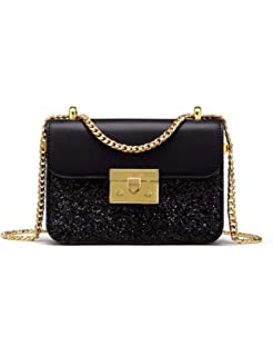 84c107328a3b LA FESTIN Ladies Designer Crossbody Bags Black Leather Chain ...