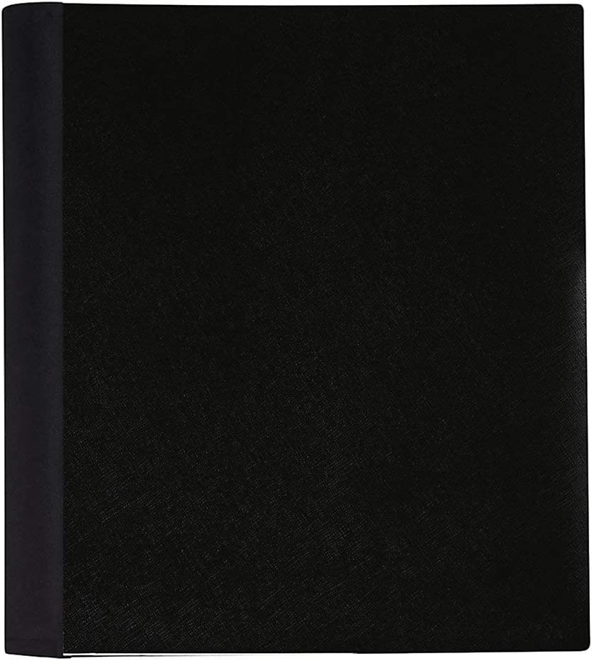"Office Depot Brand Spiral Stellar Poly Notebook, 9"" x 11"", 5 Subject, College Ruled, 200 Sheets, 56% Recycled, Black"