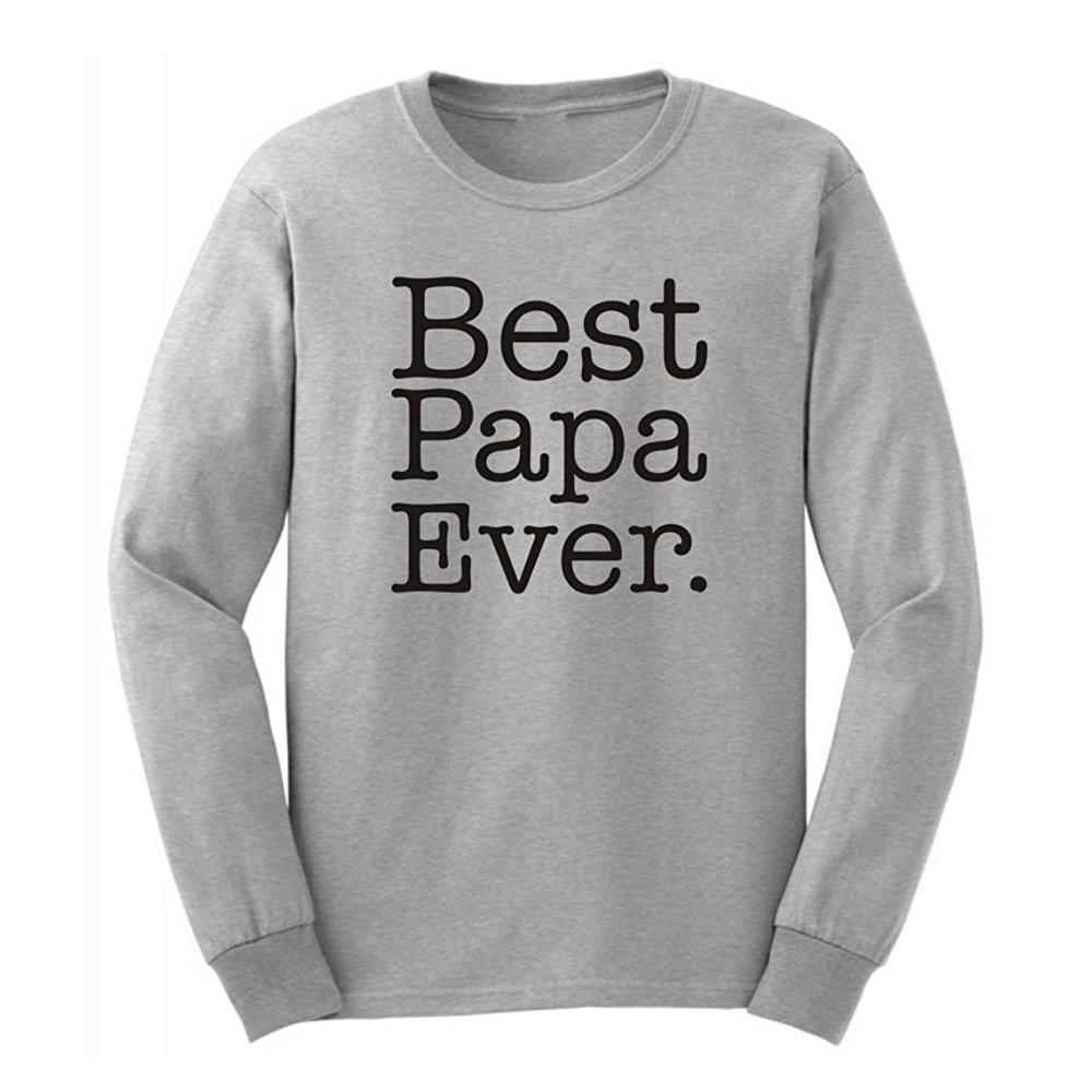 Loo Show S Best Papa Ever Papa Christmas Gift T Shirts Casual Tee
