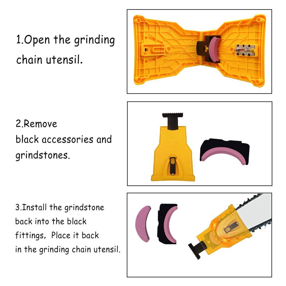 Adminitto88 Sharpening Stones And Accessories For Chainsaw Woodworking Sharpening Tool Grinding Chain Stone Grinding Chain Accessories
