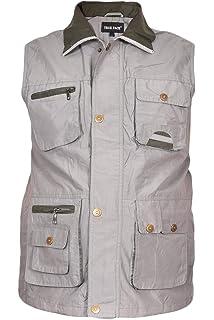 8965ec809a7df YYZYY Haute Qualite Homme Militaire Gilet Vest Multi Pochettes Veste ...