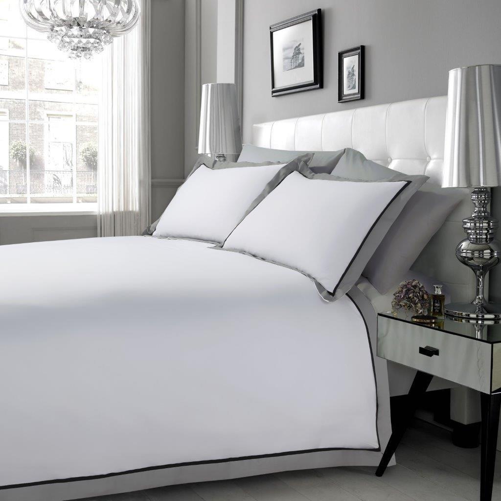Juego de fundas de edredón y almohadas Hachette, 100% algodón egipcio de 200 hilos y tamaño King