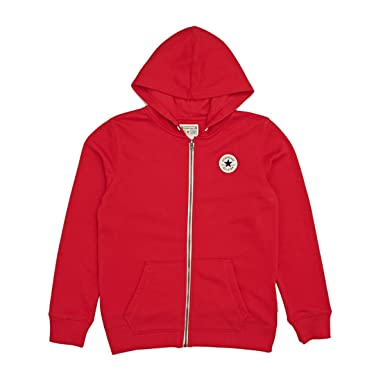 2673d45509b3 Converse Kids Boy s Chuck Patch French Terry Hoodie (Big Kids) Red Small