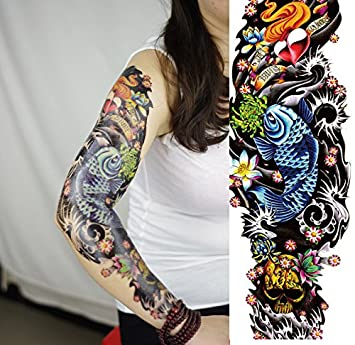afe7f614632ce Amazon.com : Body Art Temporary Removable Tattoo Stickers Sleeve - AC-012  Sticker Tattoo - FashionDancing : Beauty