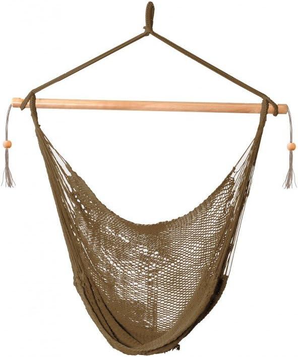 Island Rope Chair Outdoor Hammock, Brown