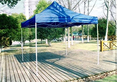 10'x10' Outdoor Pop Up Canopy Party Wedding Tent Folding Gazebo Blue Canopy (Aluminum Gazebo Costco)