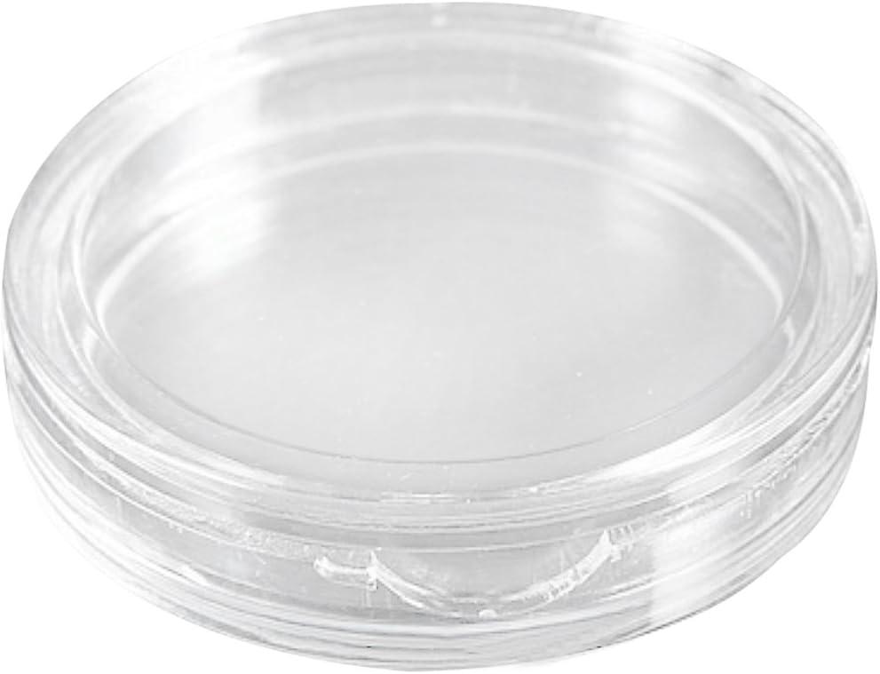 Fltaheroo 10 STK Kleine runde transparente Kunststoff-Muenzkapseln Box 33mm