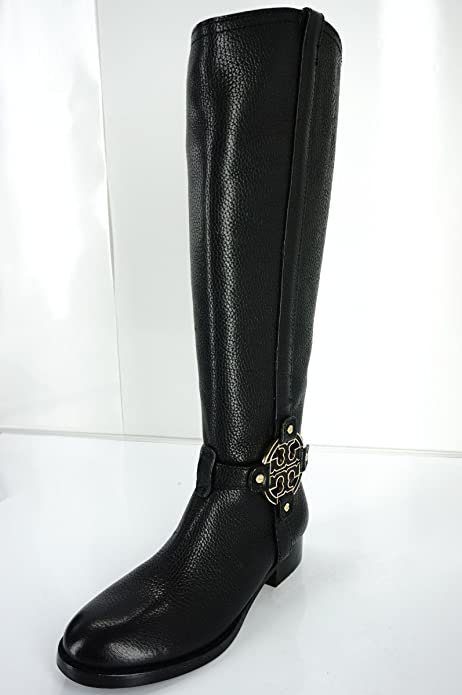 5da54257df6 Tory Burch Amanda Tall Riding Boots Size 5 Black Leather  Amazon.ca  Shoes    Handbags