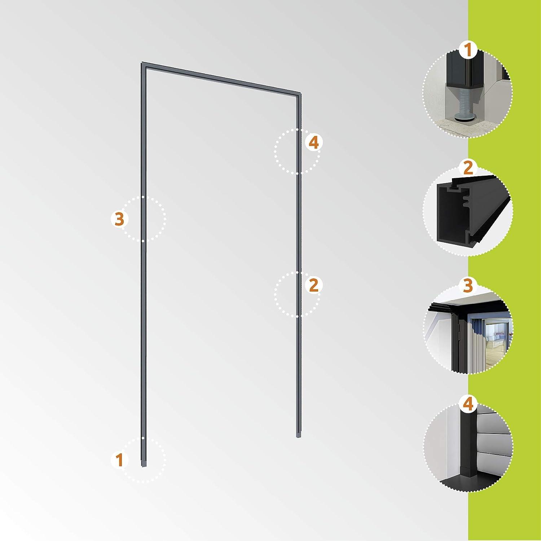 Windhager Marco Tensor Puertas para Montaje sin taladrar, acortables Individualmente, 125 x 245 cm, Antracita, 03857: Amazon.es: Jardín