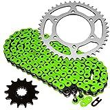 #3: Caltric Green O-Ring Drive Chain & Sprockets Kit Fits KAWASAKI EX250-K Ninja 250R SE 2009-2012