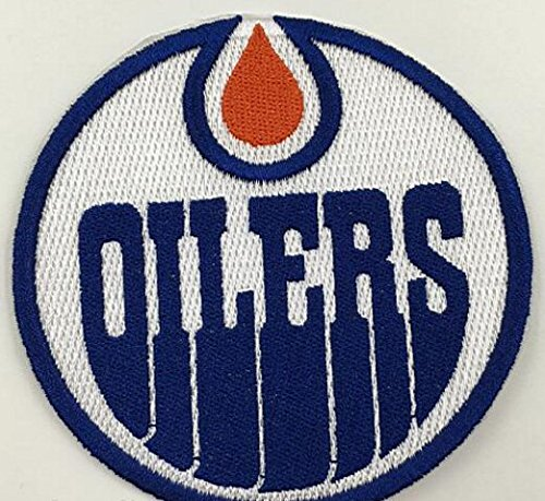Edmonton Oilers Logo Hockey NHL Embroidered Iron On Patches Hat Jersey 3 1/2 x 3""