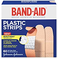 Band-Aid Brand Comfort-Flex Minor Wound Care Plastic Adhesive Bandages, Assorted Sizes, 60 Count