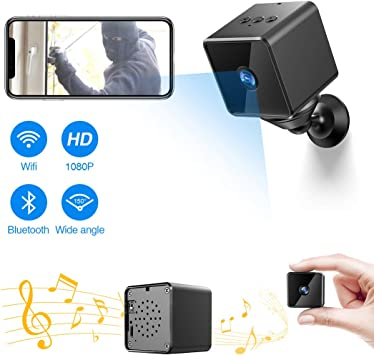 Camera Wireless Hidden,ZZCP WiFi Full HD 1080P Portable Mini Nanny Cam