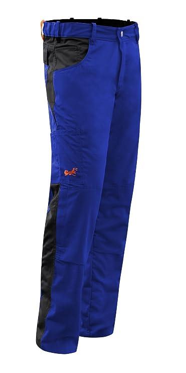 KERMEN Bottone YKK Tasca per Ginocchiere Made in EU Nero-Grigio 56 Pantaloni da Lavoro Berlin PRO Cerniera Lampo YKK