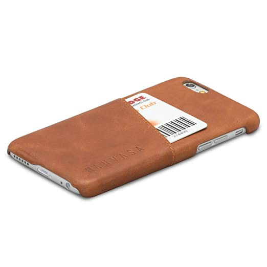 KANVASA iPhone 8 Leather Case/iPhone 7 Leather Case Brown Cards Premium Genuine Leather Wallet Back Cover for The Original iPhone 8 & 7 (4.7 inch) - ...
