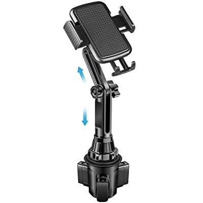 Car Cup Holder Phone Mount Universal Cup Phone Holder for Car with Adjustable Long Pole Neck for Cell Phones iPhone 11 Pro/XR/XS Max/X/SE/8/7 Plus/6s/Samsung S10 /Note 9/S8 Plus/S7 Edge (Long)