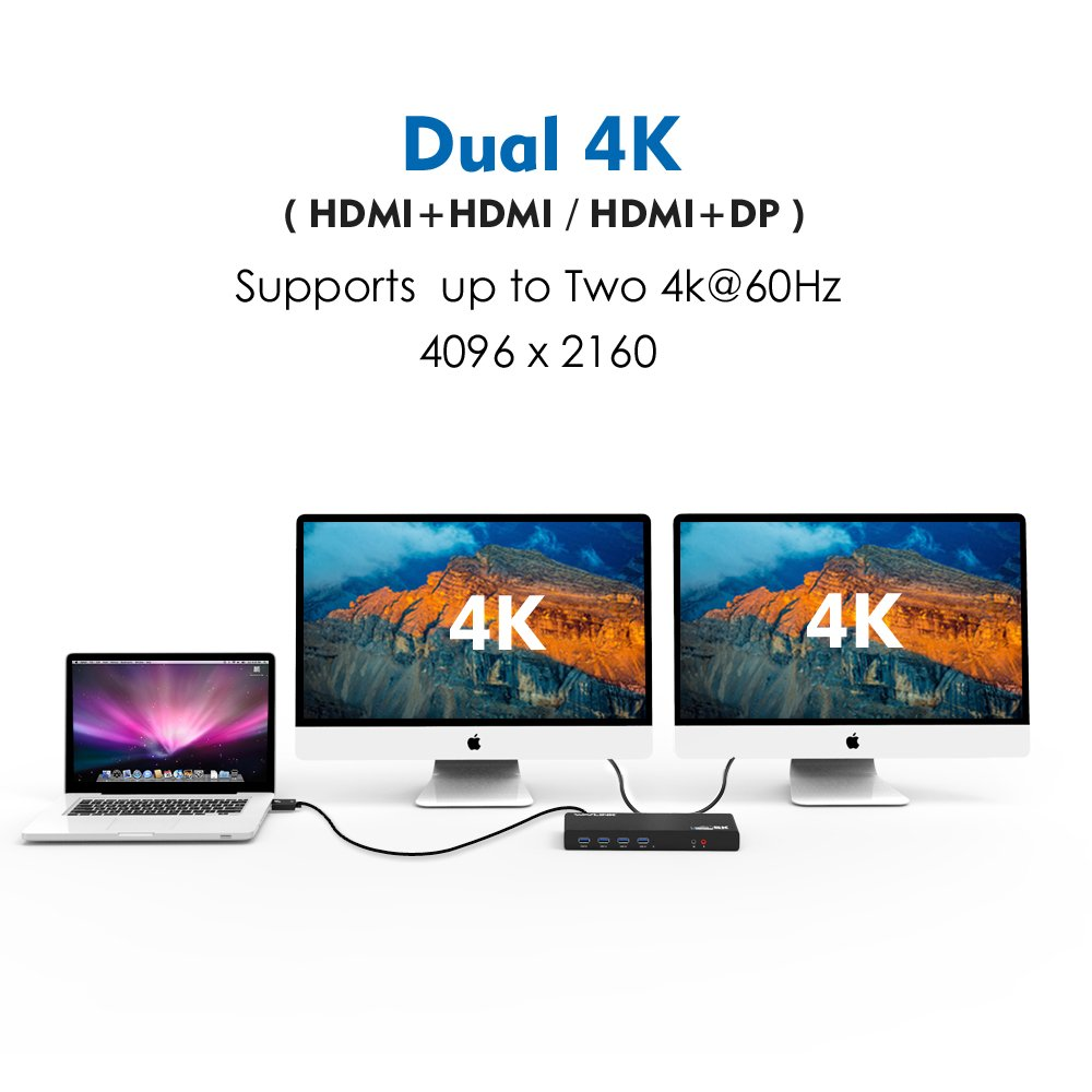 Wavlink USB C,Type-A Dual 4K Laptop Docking Station,5K/ Dual 4K @60Hz Video Outputs Dual Monitor for Windows,(2 HDMI & 2 DP, Gigabit Ethernet, 6 USB 3.0,) DL6950-PD Function Not Supported by WAVLINK (Image #3)