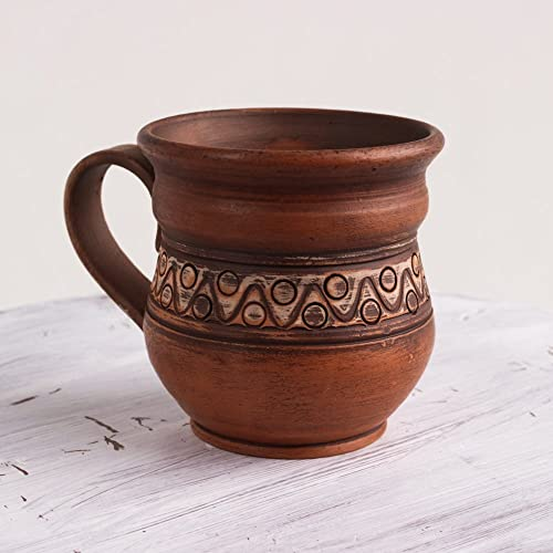Natural Aroma of coffee Handmade from red clay Ceramic is a large coffee maker Pottery Clay