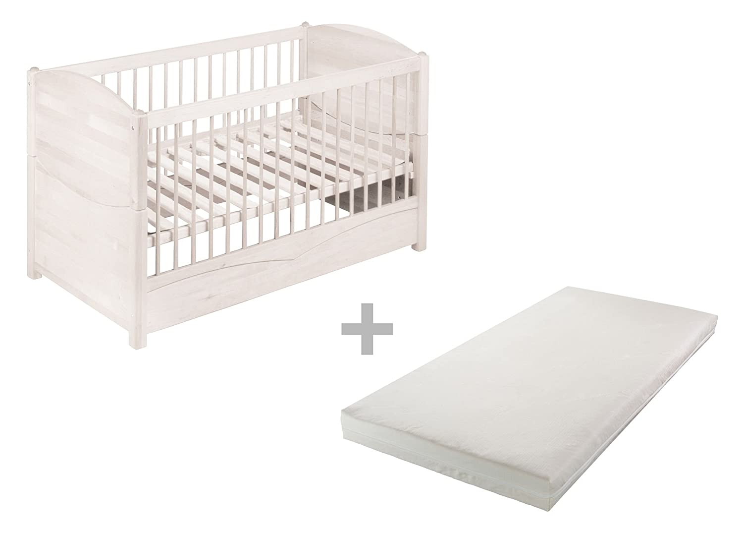 Babybed Aan Bed.Bio Kinder Luca Babybed 70x140 Cm Eco Mattress Solid Biological