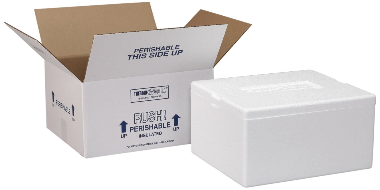 Polar Tech Thermo Chill 281/J45C Extra Large Insulated Foam Container, 30-1/4'' Length x 14-1/2'' Width x 16'' Depth