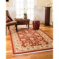 Natural Area Rugs Beacon Vintage Oriental Rug, 6' x 9', Non Slip Rug Pad Included