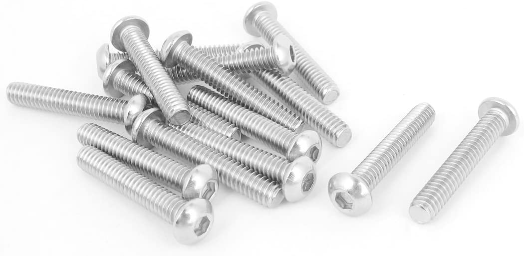 uxcell 1//4 Inch-20x1-1//2 Inch Hex Socket Button Head Bolts Screws 15pcs
