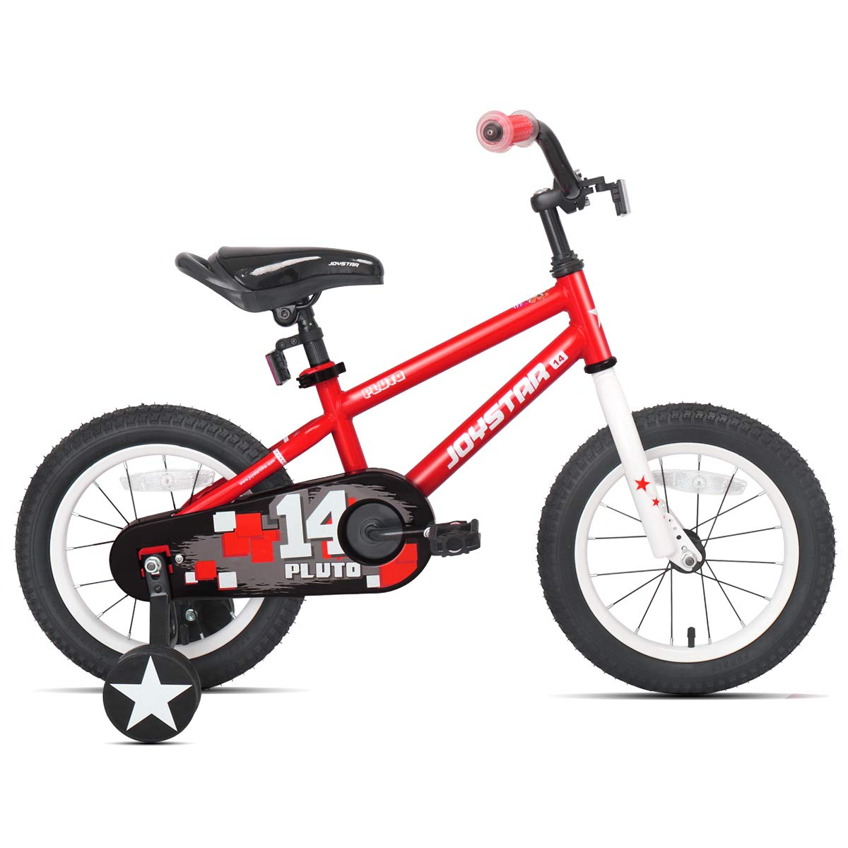 JOYSTAR 12'' Pluto Kids Bike with Training Wheels for 2 3 4 Year Old Boys & Girls, Unisex Kids Bicycle, Pedal Cycle for Toddlers, Red by JOYSTAR (Image #2)