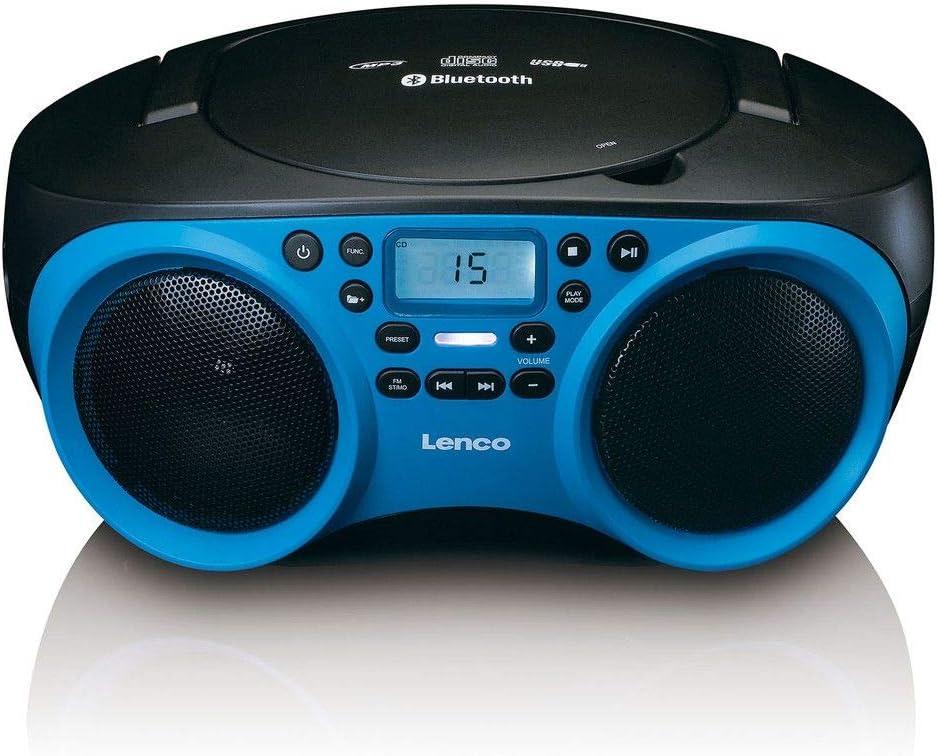 Lenco Radio Cd Player Scd 501 Mit Bluetooth Und Usb In Blau Schwarz Heimkino Tv Video