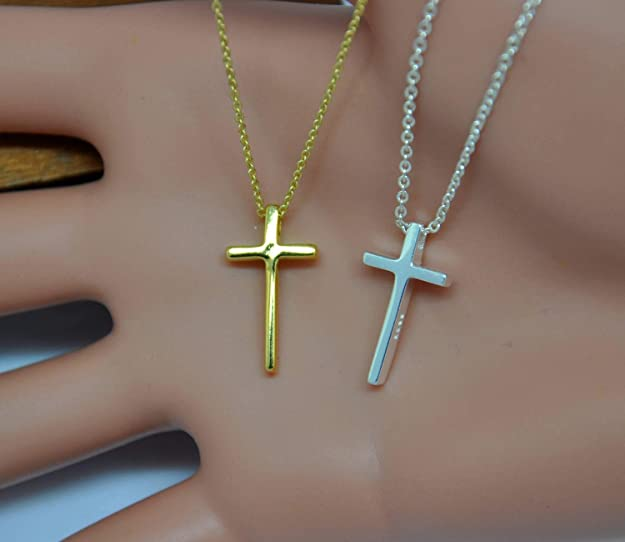 Sterling Silver Jewelry Minimalist Necklace Simple cross Personalized Necklace Minimalist cross Cross Nacklace