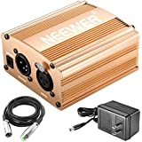 Neewer 1-Channel 48V Phantom Power Supply with Adapter and XLR Audio Cable for Any Condenser Microphone Music...