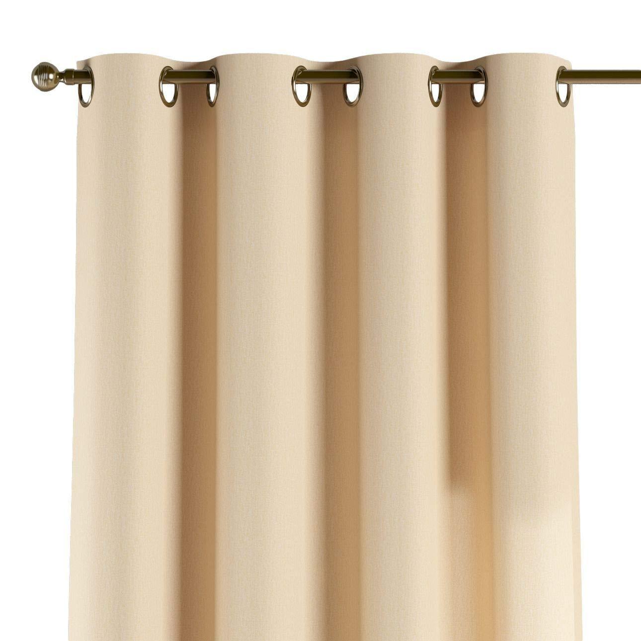 Dekoria Ösenschal Dekoschal Blickdicht 1 Stck. 130 × 260 cm vanille Maßanfertigung möglich