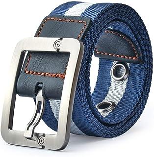 QK-Lannister Cintura Da Uomo Cintura In Tessuto Ragazzo Cintura Fibbia Con Casual Cintura In Denim Per Il Tempo Libero