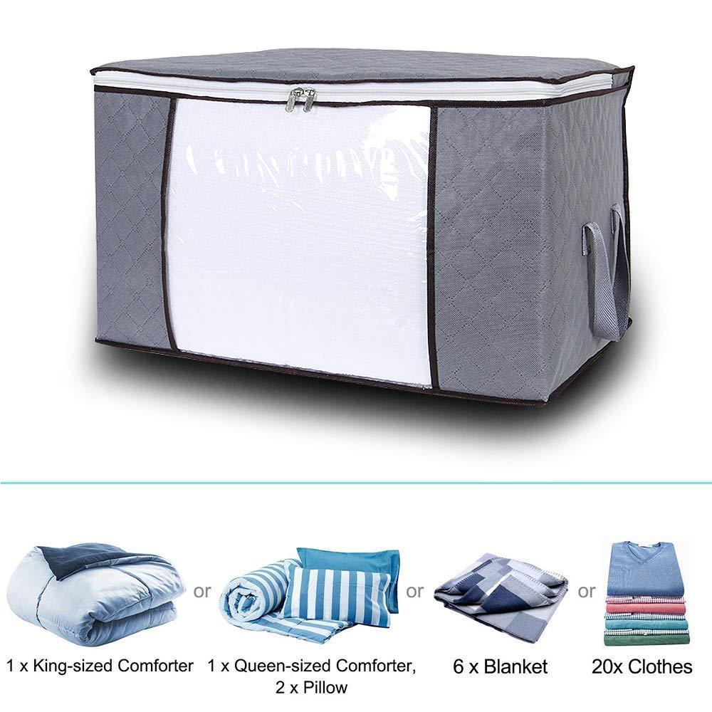 3 pezzi Sacchetto di Organizzazione di Immagazzinaggio da Tessuto non tessuto spesso 60 x 35 x 40 cm Contenitore di Immagazzinaggio domestico deposito delle mensole ideale per Indumento Maglioni