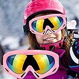 子供用 スキーゴーグル スノーボードゴーグル UV400 紫外線カッ 防風/防雪/防塵 山登り/スキーなど用 男女兼用