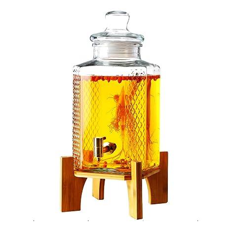 Coco - Dispensador de bebidas de cristal grueso – patrón tallado cerveza/vino rojo dispensador