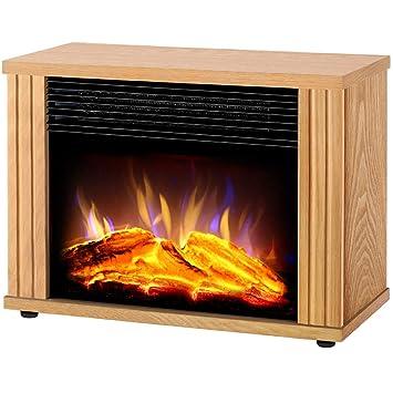 SYR&FJ Chimenea Eléctrica Calefactor 3D Efecto Fuego 1800W