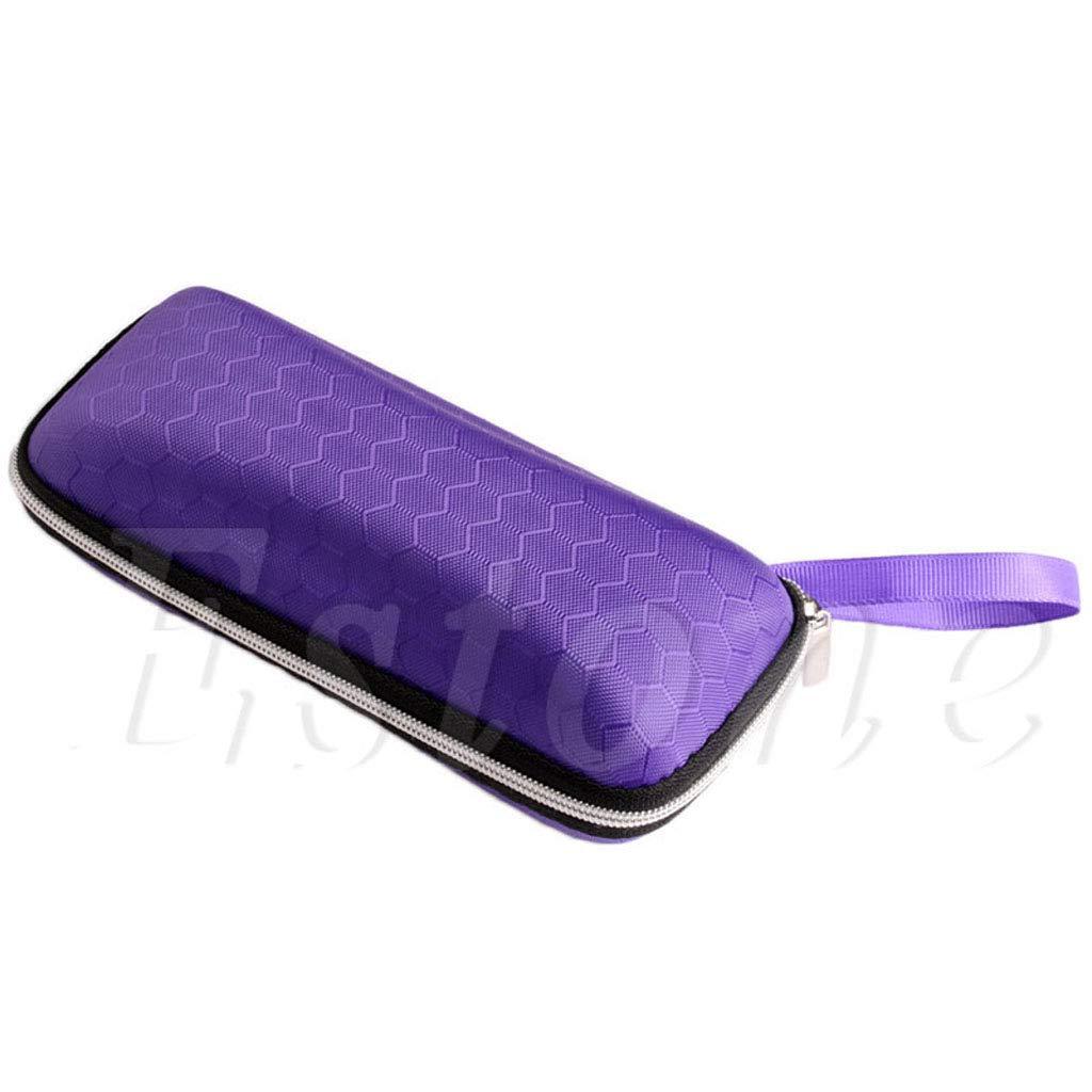 Vegan Rectangle Grid Zipper Eye Glasses Case-Portable and Elegant Design-Great For Sunglasses and Eye Glasses