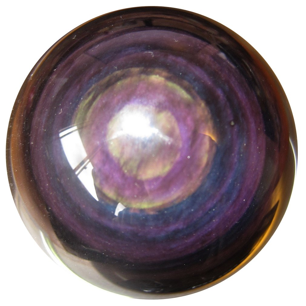 SatinCrystals Obsidian Rainbow Ball Premium Quality Upper Chakras Protective Guardian Double Eye Sphere Healing Stone P01 (2.4 Inches) by SatinCrystals (Image #4)