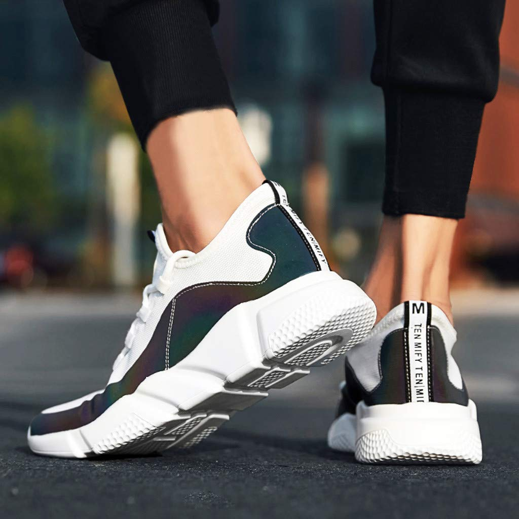 Mens Shoes KKGG Sport Outdoor Mesh White Color Mixed Shoes Striped Lightweight Breathable Sneakers Non-Slip Wide Shoe Gym Casual Jogging Running Fashion for Athletic Walking