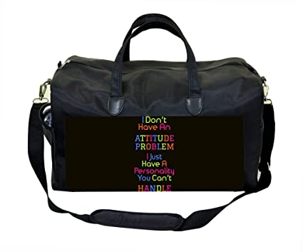 5056267b84 Image Unavailable. Image not available for. Color  Attitude Quote in Color  PU Leather and Suede Weekender Bag