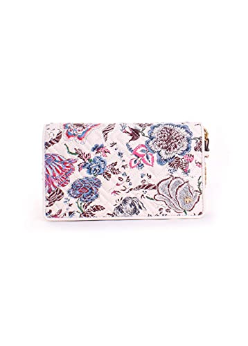 2d8abe2faae Image Unavailable. Image not available for. Color  Tory Burch Fleming Floral  Leather Chain Wallet ...