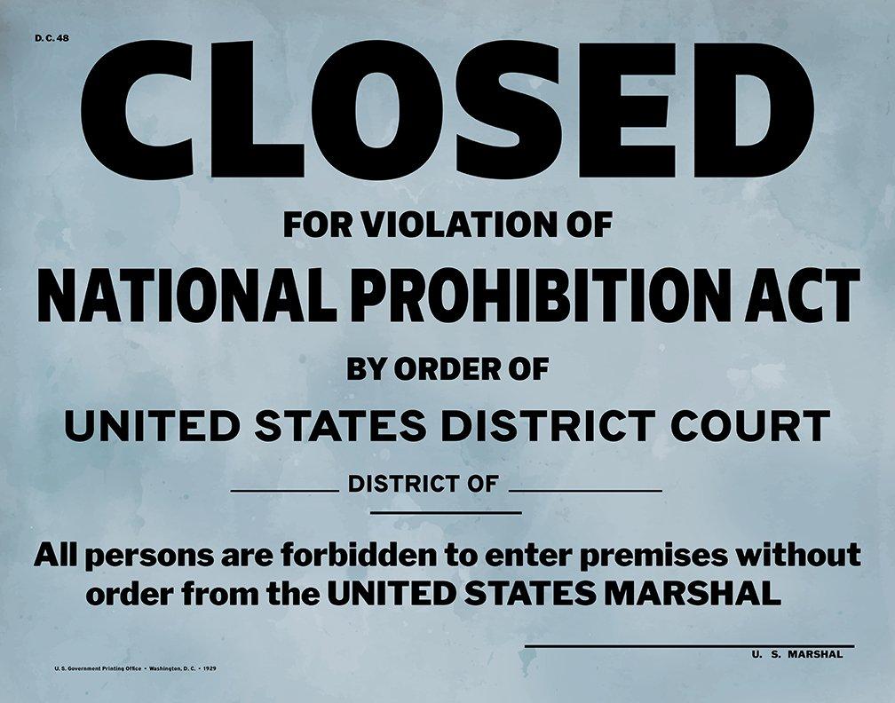 Amazon.com: US Government Prohibition Poster Reproduction Home Decor ...