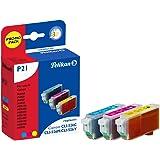 Pelikan P21  Pack de 3 Cartouches compatibles pour Canon CLI 526 3x9ml Cyan Magenta Jaune