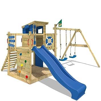 wickey parque infantil smart camp juegos de jardin torre del juego con columpio y tobogn