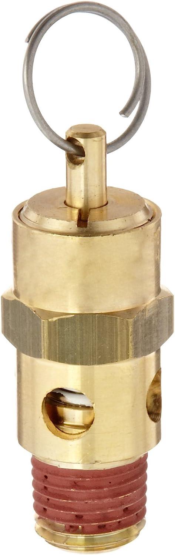 "Control Devices ST Series Brass ASME Safety Valve, 125 psi Set Pressure, 1/4"" Male NPT"