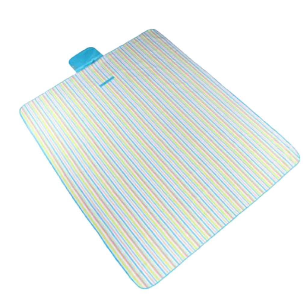 Moisture proof pad Picnic Mat, Outdoor Mat Home Yoga Mat Wild Travel Mat Striped Foldable (Color : B)
