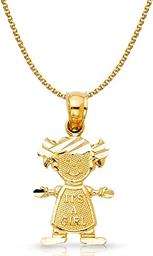 Ioka 14K Yellow Gold Lucky Horseshoe Charm Pendant For Necklace or Chain