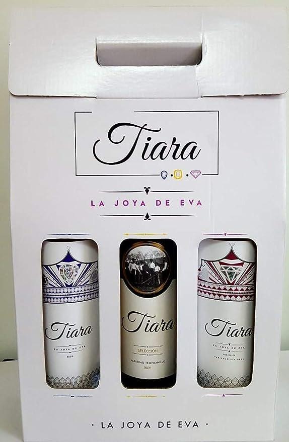 Estuche Regalo Vino 3 Botellas Bodegas Tiara - 2 Vinos Blancos y 1 Vinos tinto de Extremadura: Amazon.es: Alimentación y bebidas