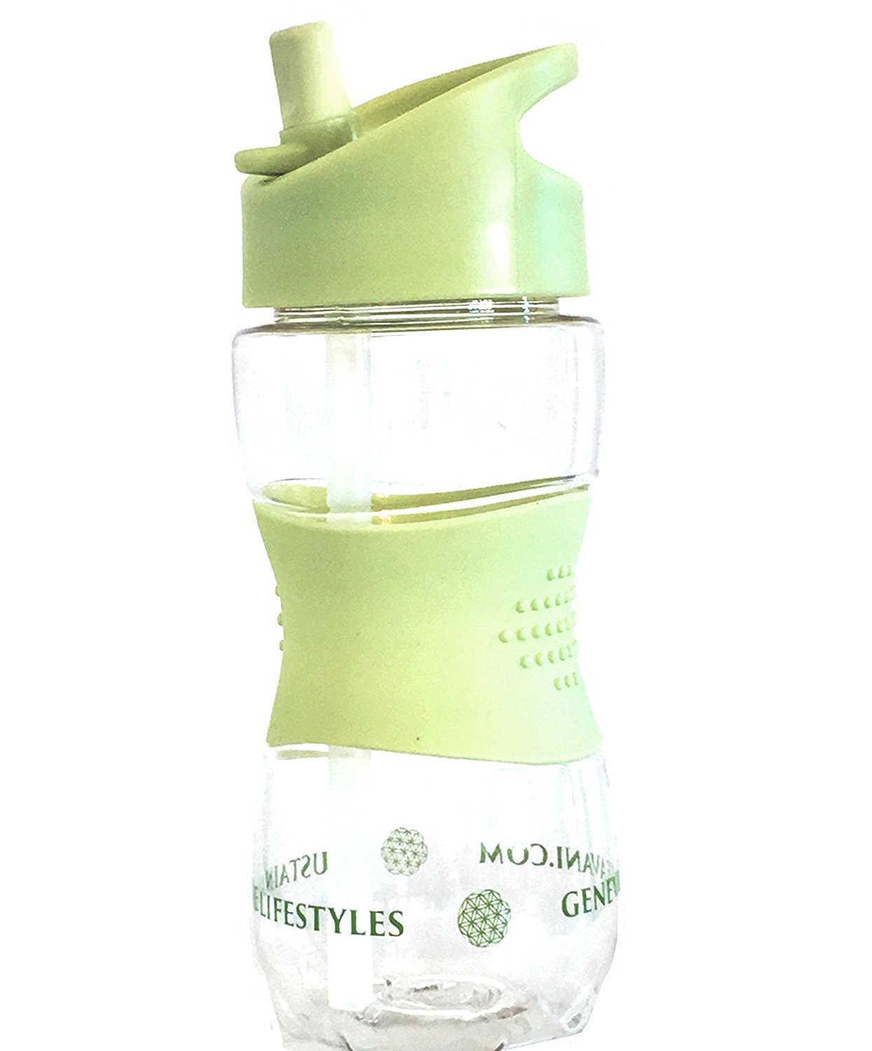 Premium Hygienic Kids Straw Tritan Water Bottle - Anti Mold - BPA Free. Complete with Stainless Steel Straw Cleaning Brush Genevieve Avani Lifestyles